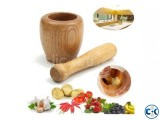 Benecasa Wood Mortar and Pestle
