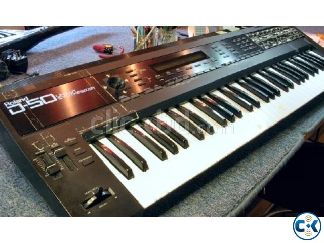 Roland D-50 with Hard case | ClickBD large image 0