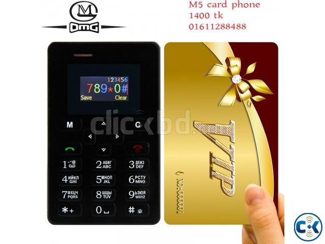 AIEK M5 Mini credit card Size Mobile Phone | ClickBD large image 0