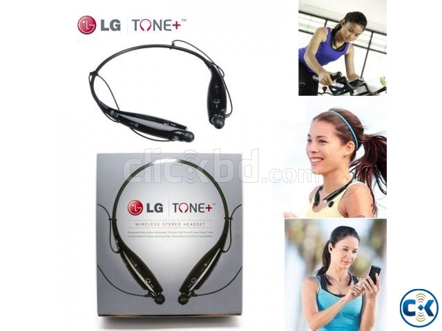 Bluetooth Stereo Headset LG Tone Black | ClickBD large image 2
