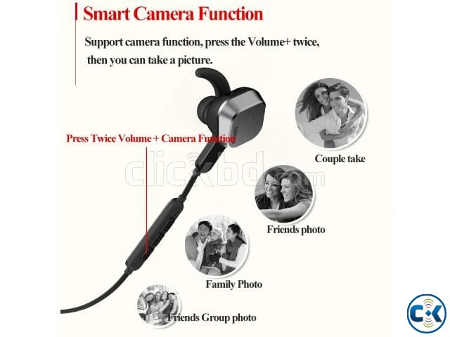 Magnet motion RM-S2 Bluetooth 4.1 Sport HeadPhones Black | ClickBD large image 1