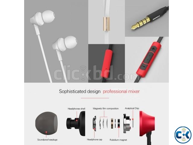 RM-610D Super Bass In-Ear Earphone White | ClickBD large image 2