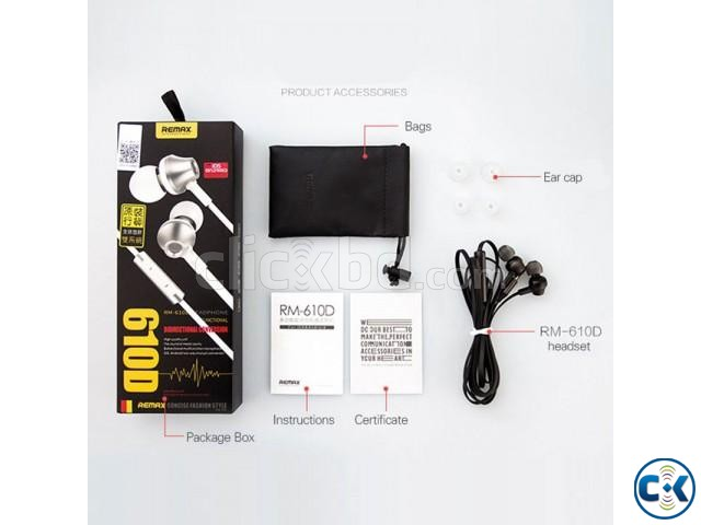 RM-610D Super Bass In-Ear Earphone White | ClickBD large image 3