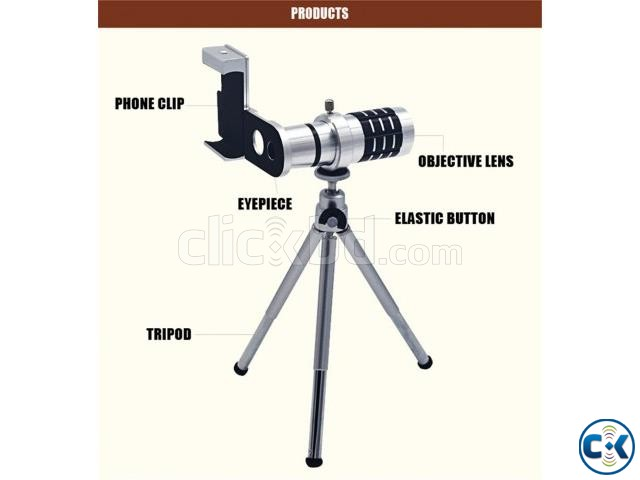 12X Universal Mobile Phone Lens | ClickBD large image 1