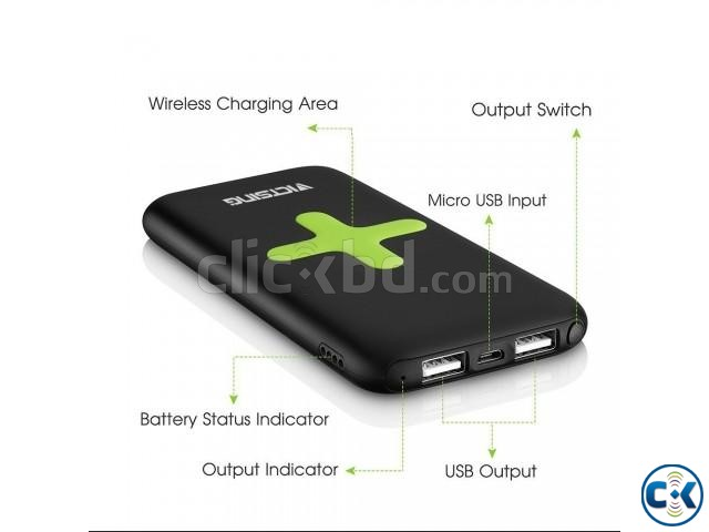 Wireless Charging Power Bank 7000 mAh | ClickBD large image 0