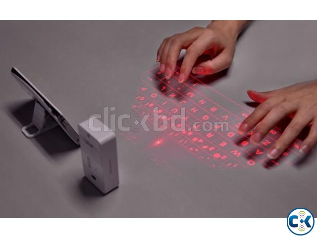 Wireless Bluetooth Laser Keyboard | ClickBD large image 0
