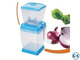 Multi Functional Onion Chopper - Blue and White