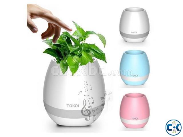 Creative Bluetooth Smart Music Flower Pot Speaker -multicolo | ClickBD large image 0
