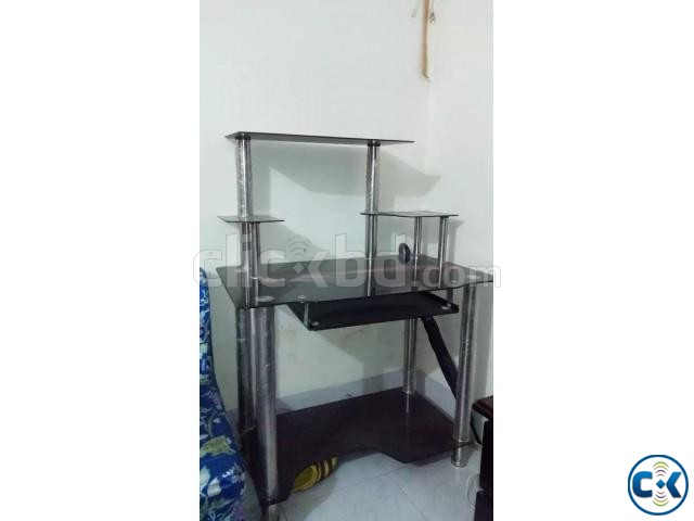 Glasstop Computer Table up for Sale Only 3500 | ClickBD large image 0
