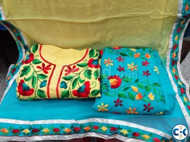 Indian Jaipuri Katha stitched | ClickBD large image 0