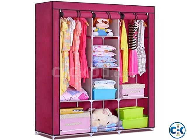 Foldable Storage Almirah | ClickBD large image 0