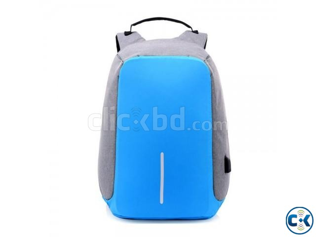 Anti-theft Backpack With USB Charge Port Blue Color | ClickBD large image 0