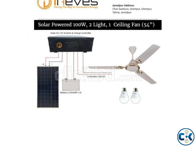 Ceiling 54 inch with solar panel | ClickBD large image 0