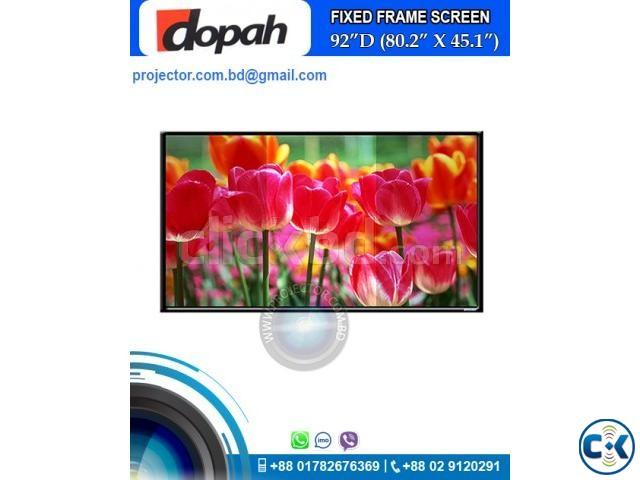 Dopah Fixed Frame Projector Screen 92 High Contrast Grey | ClickBD large image 0