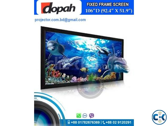 Dopah Fixed Frame Projector Screen 106 High Contrast Grey | ClickBD large image 0