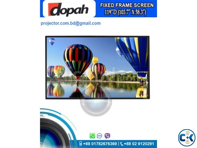 Dopah Fixed Frame Projector Screen 119 High Contrast Grey | ClickBD large image 0