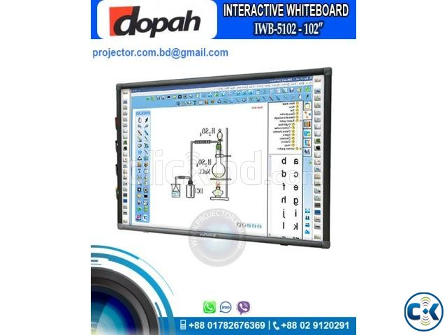 Dopah IWB-5102 102 Digital Interactive White Board | ClickBD large image 0