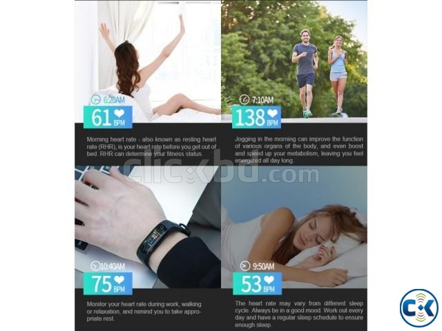 CD02 Continuous Heart Rate Monitoring Blood pressure Smart B | ClickBD large image 1