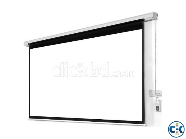 Electric Projector Screen High Contrast Grey 133 Diagonal | ClickBD large image 0