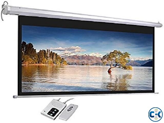 Electric High Contrast Grey 151 Diagonal Projector Screen | ClickBD large image 0
