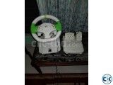 Xbox 360 E MODDED with steering wheel and Kinect
