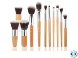 11pcs Bamboo Handle Makeup Brushe Set