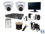CCTV Camera Setup with 2 PCS