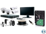 CCTV Camera Setup with 04 PCS Camera