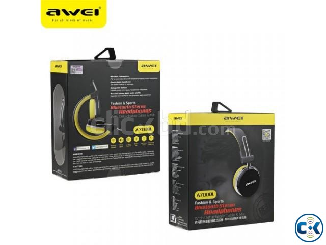 Wireless Bluetooth Active Dynamic 3D A700bl Stereo Headphone | ClickBD large image 3