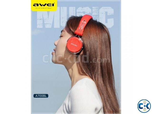Wireless Bluetooth Active Dynamic 3D A700bl Stereo Headphone | ClickBD large image 4