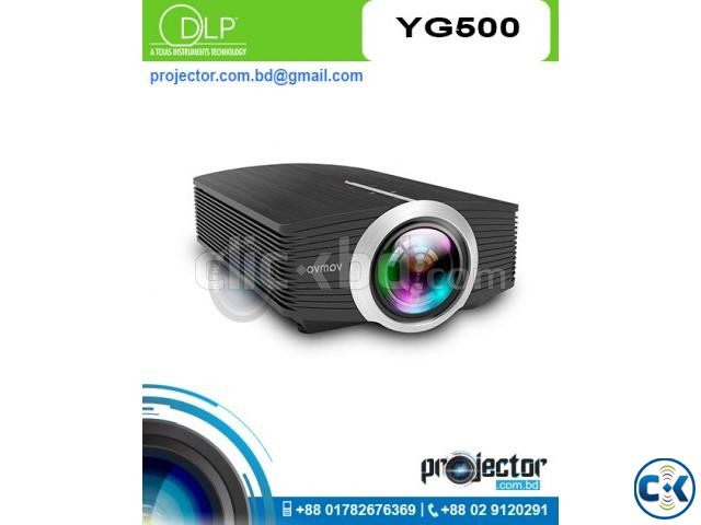 YG-500 1200 Lumens LED Portable Projector | ClickBD large image 0