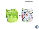 baby cloth diaper adjustable size water proof - Multicolor