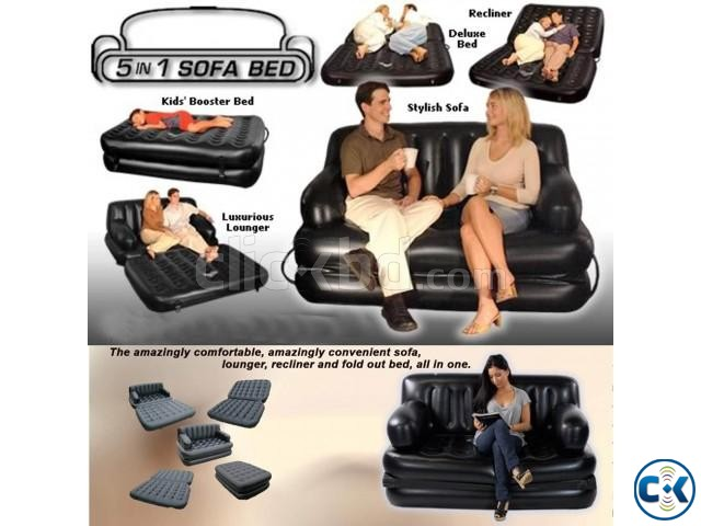 5in1 Air-O-Space sofa bed | ClickBD large image 2