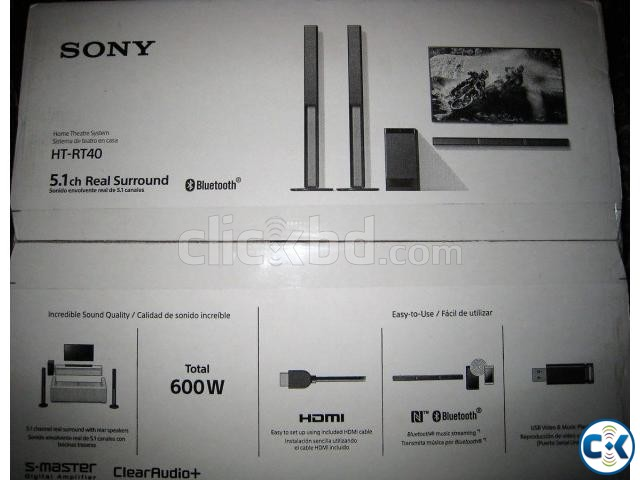 Sony HT-RT40 5.1 Channel Sound Bar Home Theatre System | ClickBD large image 3