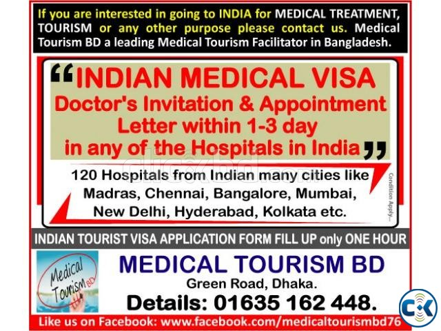 INDIAN TOURIST MEDICAL VISA DOCTOR APPOINTMENT DATE | ClickBD large image 0
