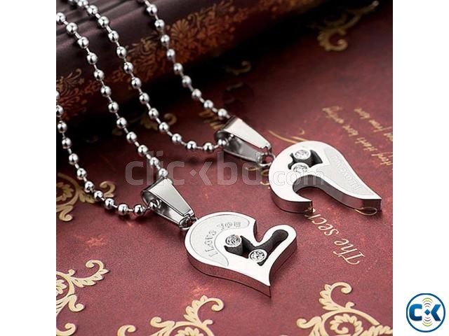 I Love You Couple Pendant | ClickBD large image 0