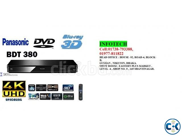 Panasonic DMP-BDT380 4K Upscaling Multi-Region Multi-System | ClickBD