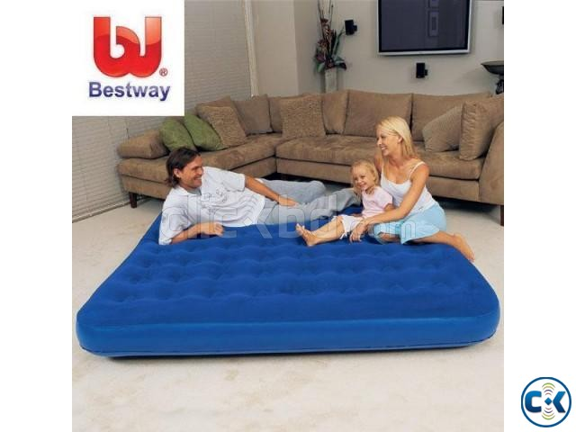 Bestway Double Air Bed free pumper intact Box | ClickBD large image 0