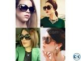 Flower Carving Women Fashion Cat Eye Vintage Sunglasses Glas
