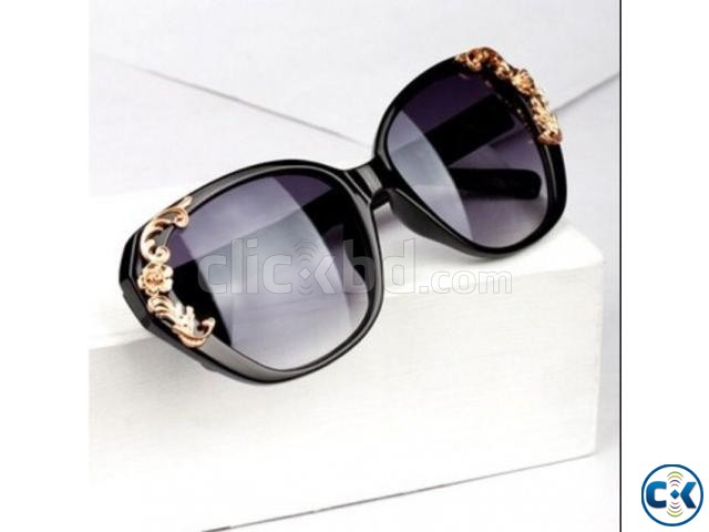 Flower Carving Women Fashion Cat Eye Vintage Sunglasses Glas | ClickBD large image 1
