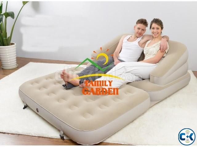 Jilong Relax 5 in 1 Air Sofa cum Bed | ClickBD large image 0