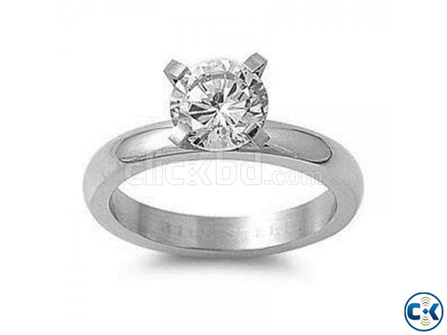 Silver Plated Twin Zircon Finger Ring | ClickBD large image 0