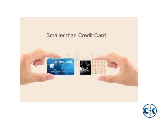 Original Mini credit card Size phone Q5 EDGE Display Intact | ClickBD large image 0