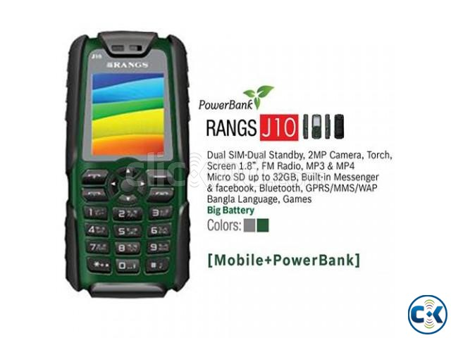 Original Rangs j10 Mobile Phone 6500mAh Power Bank intact | ClickBD large image 0