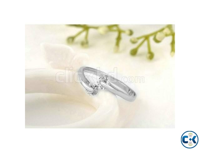 Silver Plated hion Design Twin Finger Ring | ClickBD large image 0