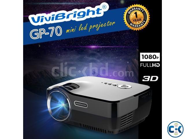 Vivibright GP70 Multimedia Mini Projector 3D HD Projector | ClickBD large image 0