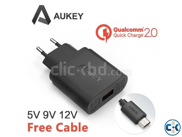 REAL Fast Charger AUKEY U-28 With Qualcomm Quick Charge 2.0 | ClickBD large image 0