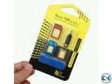 5 in 1 Metal Nano SIM Card to Micro Standard Adapter Convert