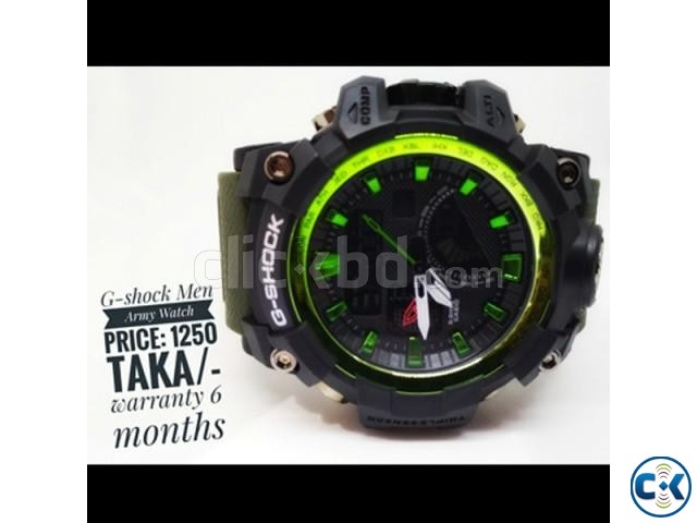 G-shok men army watch | ClickBD large image 0