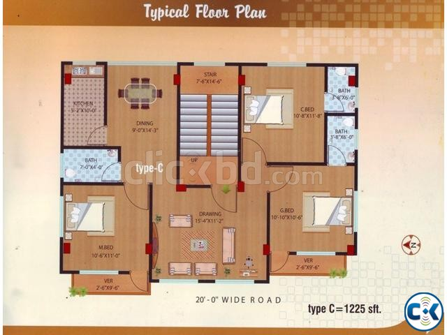 Almost Ready 1225 sft Flat Rayer Bazar | ClickBD large image 1